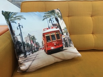 Streetcar Pillow
